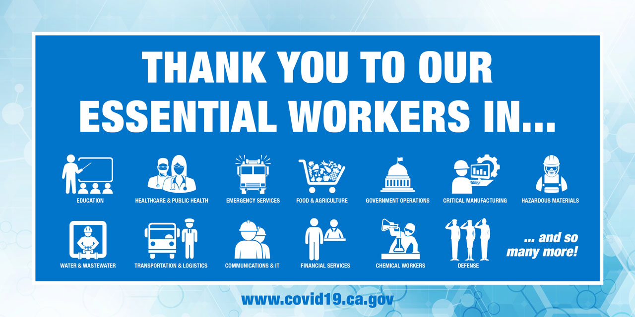 COVID-19 Thank you Essential Workers