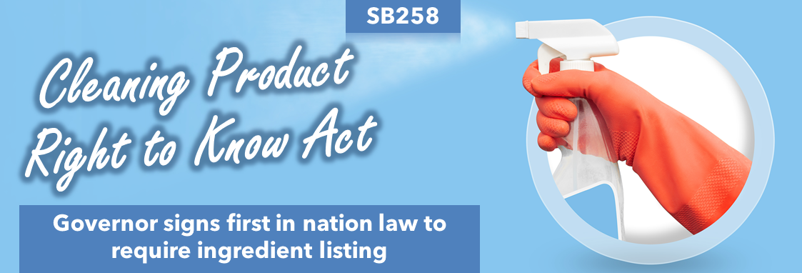 Governor signs Cleaning Product Right to Know Act